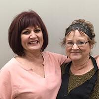 Photo of Connie Bridges and Joann Heser
